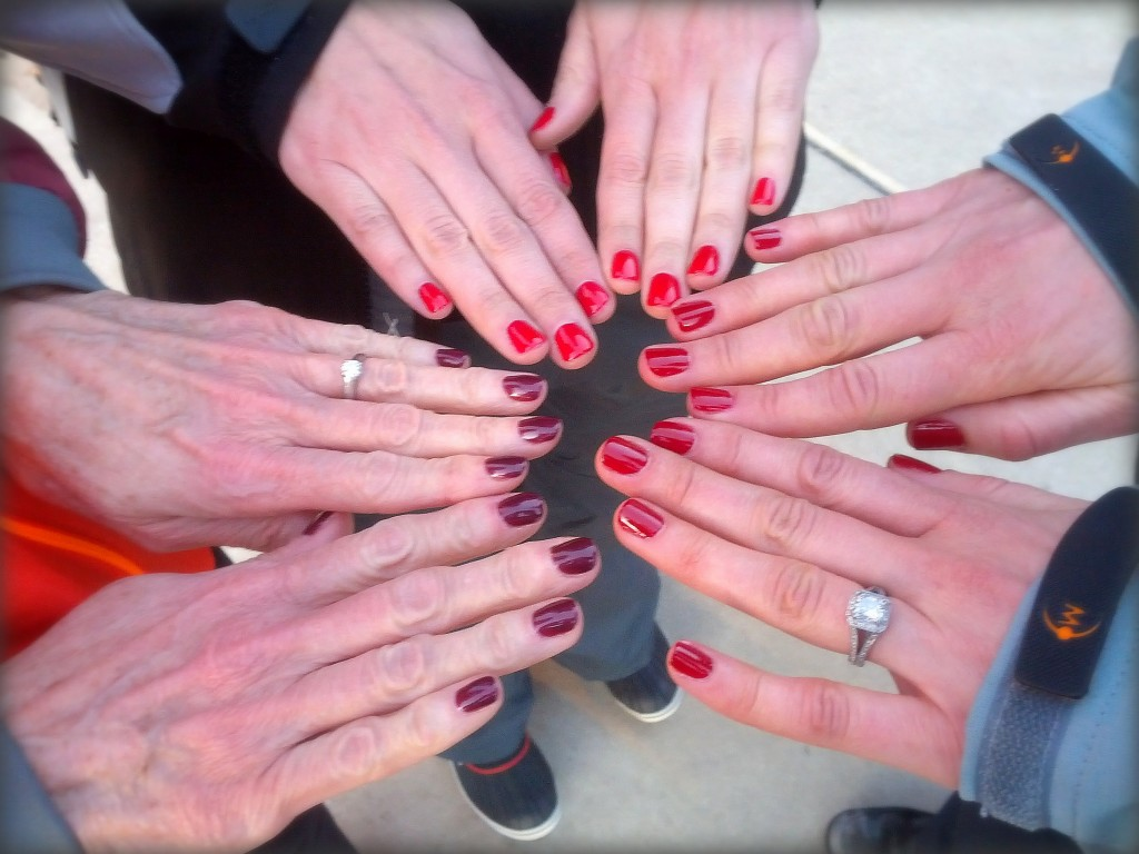 A manicure with my aunt and cousin (unfortunately mine only lasted 1 day - this active girl wasn't made for manicures!)