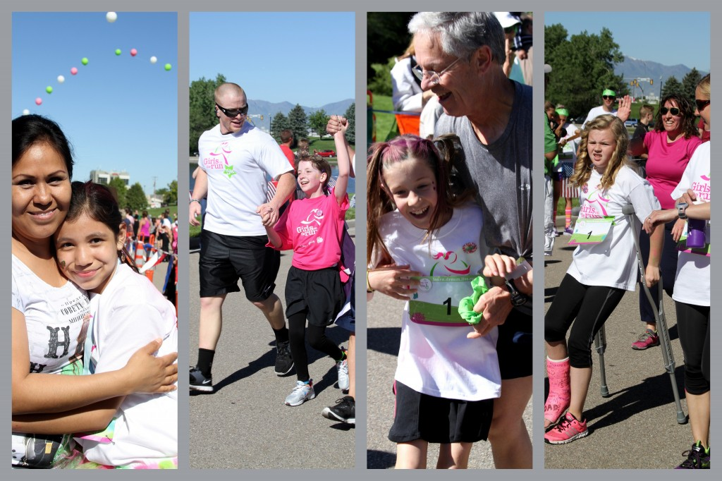 Jubilation at the finish line at  a recent Girls on the Run event.