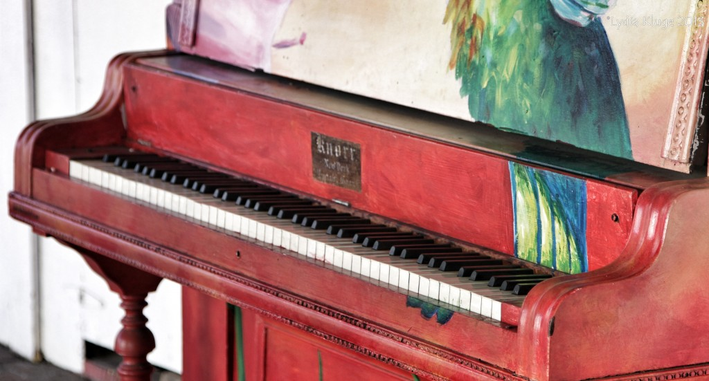 A piano sits waiting for a player, as part of a local initiative.