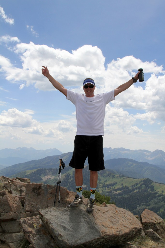 Jeff at the summit of Clayton's Peak 10,721 ft.