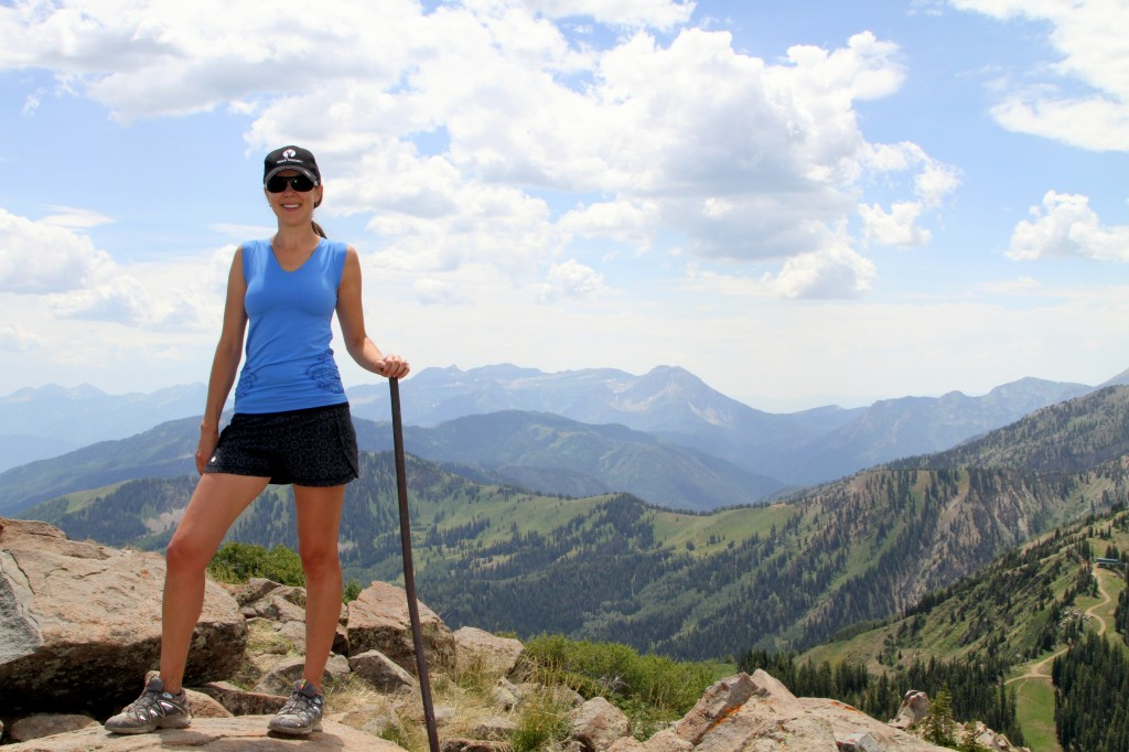 At the top of Clayton's Peak (10,721 ft) with the summit marker / lightning rod! Amazing views. You can see 6 ski resorts from this point.