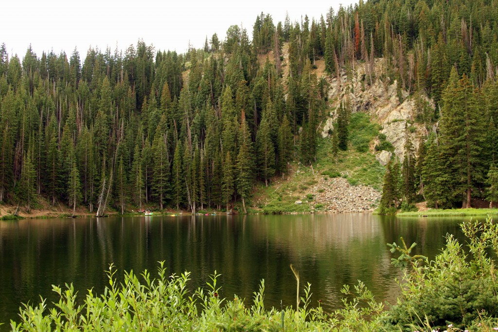 We end up by the beautiful Bloods Lake.