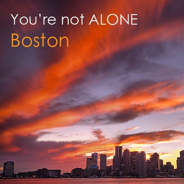 You're not alone Boston (image from surfer Bethany Hamilton's Facebook page)