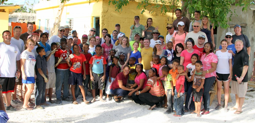 Corporate Alliance group at our service project in the Dominican Republic.